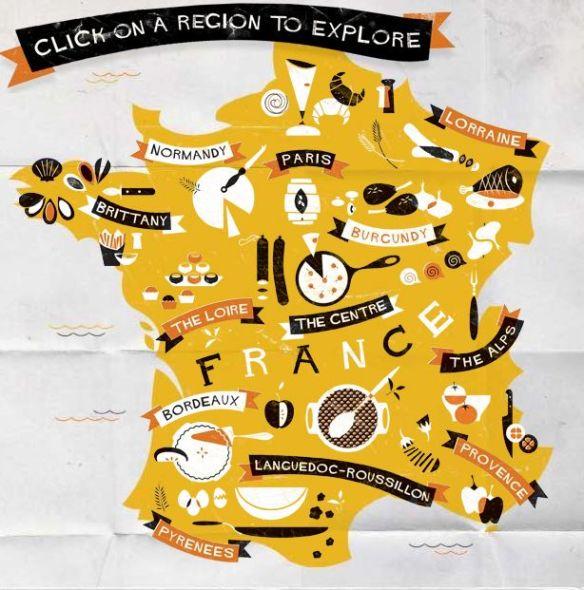 Regioni Francia Cartina.Tutta La Cucina Francese In Una Mappa Chez Moi A Bordeaux